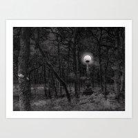 Moon Woods Art Print
