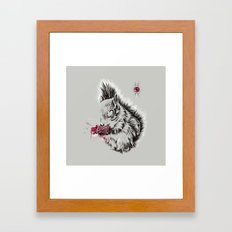 Zombie Squirrel Framed Art Print