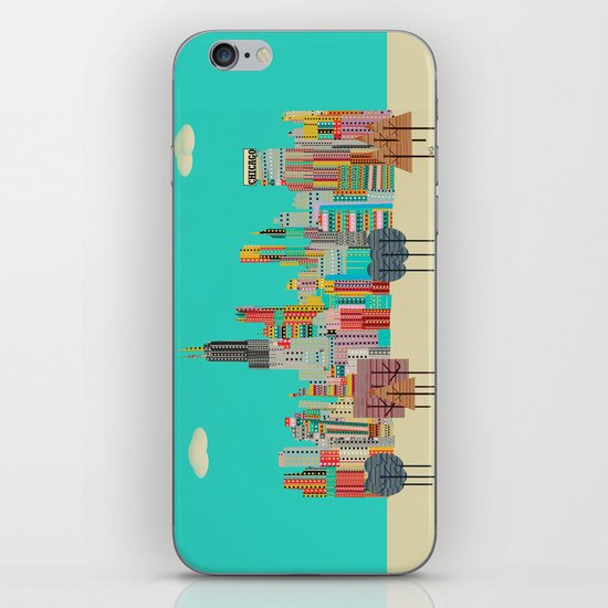 Chicago city (summer days) iPhone & iPod Skin
