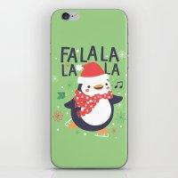 Fa la la penguin iPhone & iPod Skin