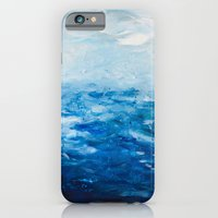 Paint 10 abstract water ocean seascape modern painting dorm room decor affordable stretched canvas iPhone 6 Slim Case