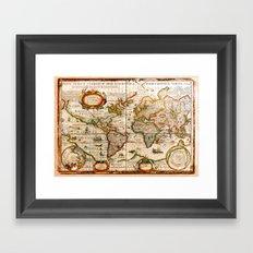 Vintage Map Framed Art Print