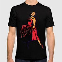 Happiness in a Red Dress Mens Fitted Tee Black SMALL