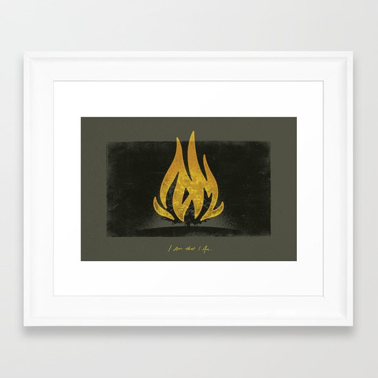 Moses and the Burning Bush (By Chaz Russo) Framed Art Print