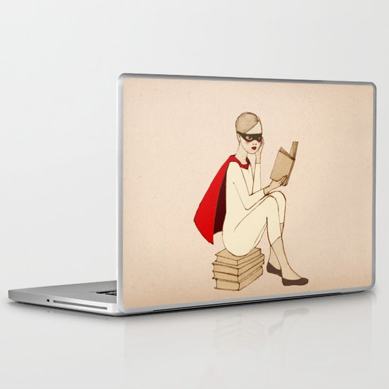 Superhero reader Laptop & iPad Skin