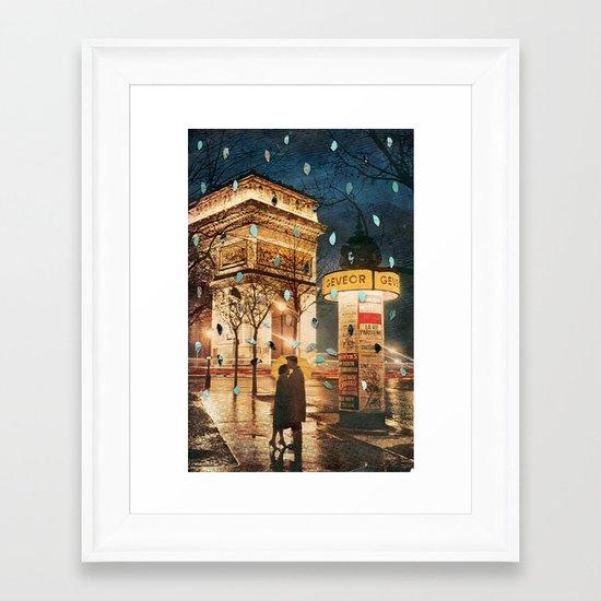 Rain Cant Touch Us Framed Art Print