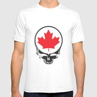 Canadian Steal Your Face (variation) Mens Fitted Tee White SMALL