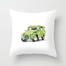2cv Van Throw Pillow