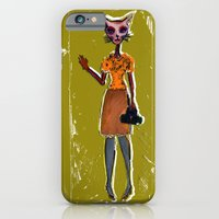 iPhone & iPod Case featuring The Cat Say's, Hi! by Kevin Van Gysel