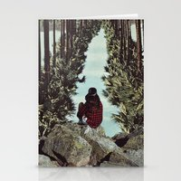 RELENTLESS CORRIDORS Stationery Cards