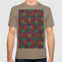 Texture3 1 Mens Fitted Tee Tri-Coffee SMALL