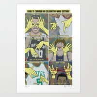 Guide To NBA Celebratory… Art Print