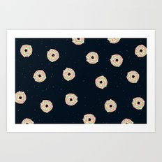 Donuts In Space Art Print