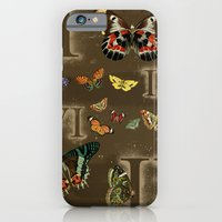 iPhone & iPod Case featuring Let's Count Butterflies by petite stitches