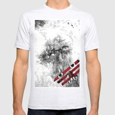 asc 164 - The Red Baron & Newton I (Le château des nuages) Mens Fitted Tee Ash Grey SMALL