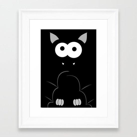 Minimal Bat Framed Art Print