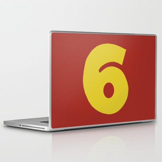 Number 6 Laptop & iPad Skin