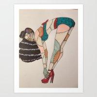 Patchwork Zombie. Art Print