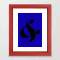 Custom Ampersand Framed Art Print