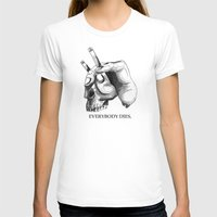 handcigskull II Womens Fitted Tee White SMALL
