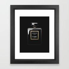 Perfume Noir Black Framed Art Print