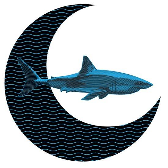 Shark Side of the Moon Art Print