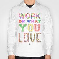 Hoody featuring Life & Love by Fimbis