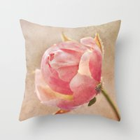 Pretty Little Rosebud. Throw Pillow