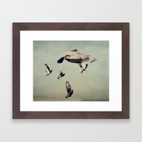 She Spread Her Wings and Began to Fly Framed Art Print
