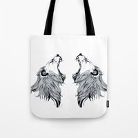 Growling Lion  Tote Bag