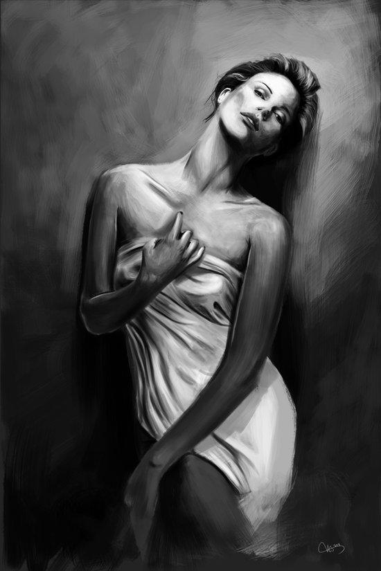 Charlize Theron Art Print