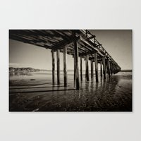 The Pier At Cayucos Canvas Print