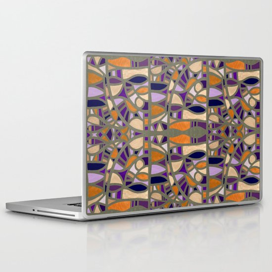 Gaudy Gaudi orange & purple Laptop & iPad Skin