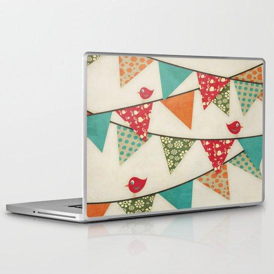 Home Birds 'N' Bunting. Laptop & iPad Skin