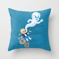 Where Do Friendly Ghosts… Throw Pillow