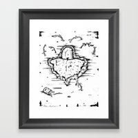 Broken. Framed Art Print