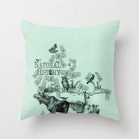 Natural History Throw Pillow