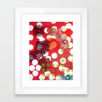 Polka-Dot Framed Art Print