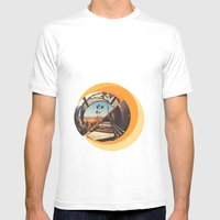 Arganzuela Mens Fitted Tee White SMALL