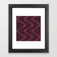 Pink Snake Framed Art Print