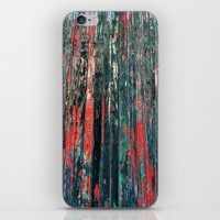 Red Splinters iPhone & iPod Skin