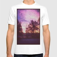 Pink Sunrise Mens Fitted Tee White SMALL