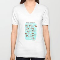 Hedgehogs Say Funny Things Unisex V-Neck
