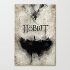 The Hobbit the Battle of the Five Armies Watercolor Book Cover Canvas Print