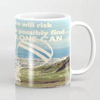 Adventure Quote, hot air balloon Mug