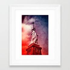 Patriotic Statue of Liberty Framed Art Print