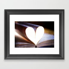 Love Books Framed Art Print