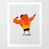 Flex Friday Art Print
