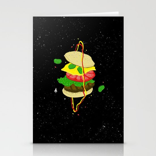 Planetary Discovery 8932: Cheeseburger Stationery Card