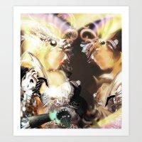 Confront Your Demons [Digital Figure Illustration] Art Print